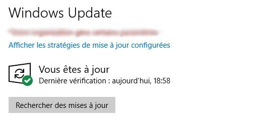 Réparer Windows update